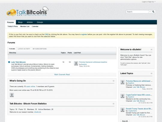 Talk Bitcoins