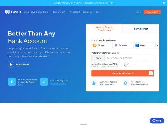 Nexo crypto loans