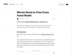 Bitcoin Stock-to-flow