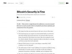 Bitcoins Security is Fine