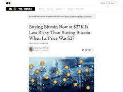 Buying BTC at $27k