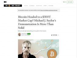 Bitcoin to $300T Market Cap