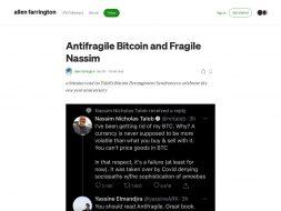Antifragile BTC Fragile Nassim