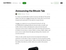 The Bitcoin Tab